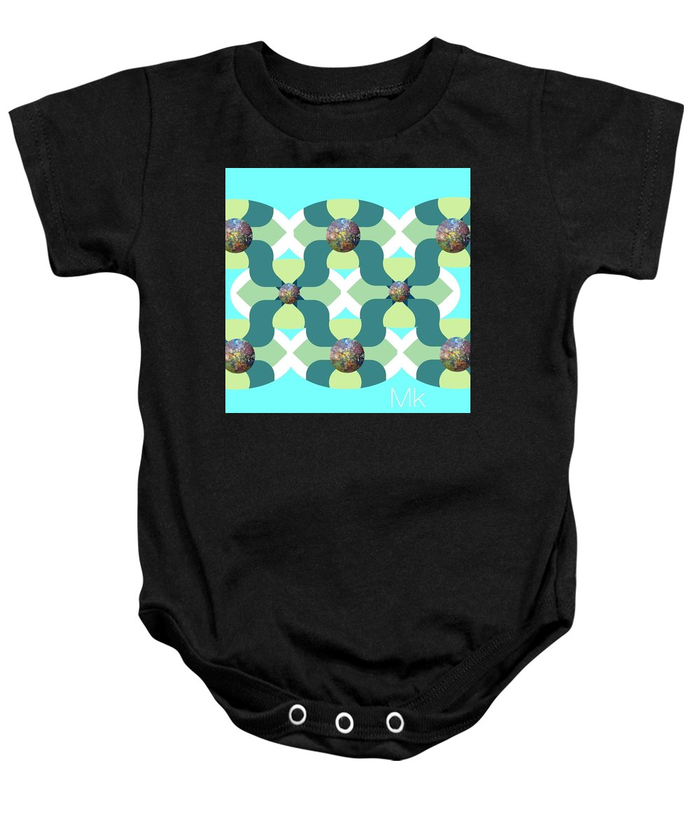 Abstract Baby Onesie featuring the digital art Fun by Mary Jo Hopton
