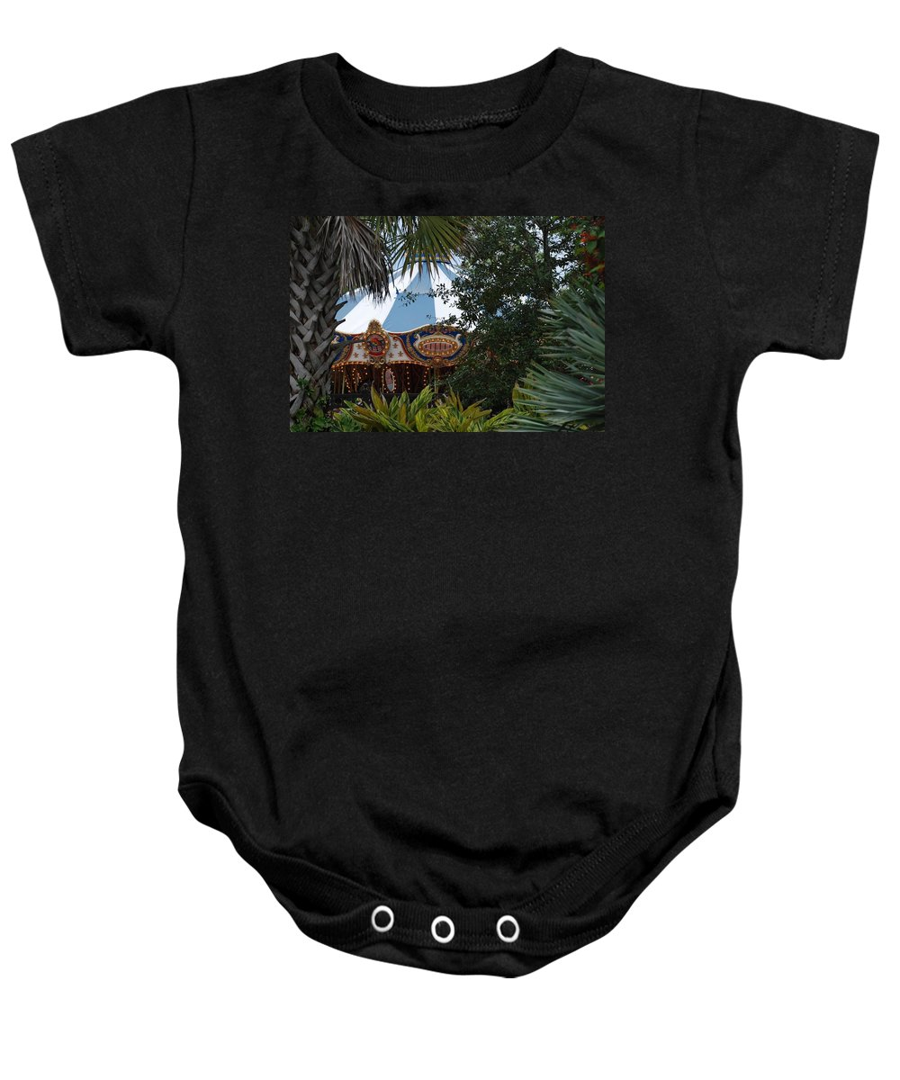 Architecture Baby Onesie featuring the photograph Fun Thru The Trees by Rob Hans