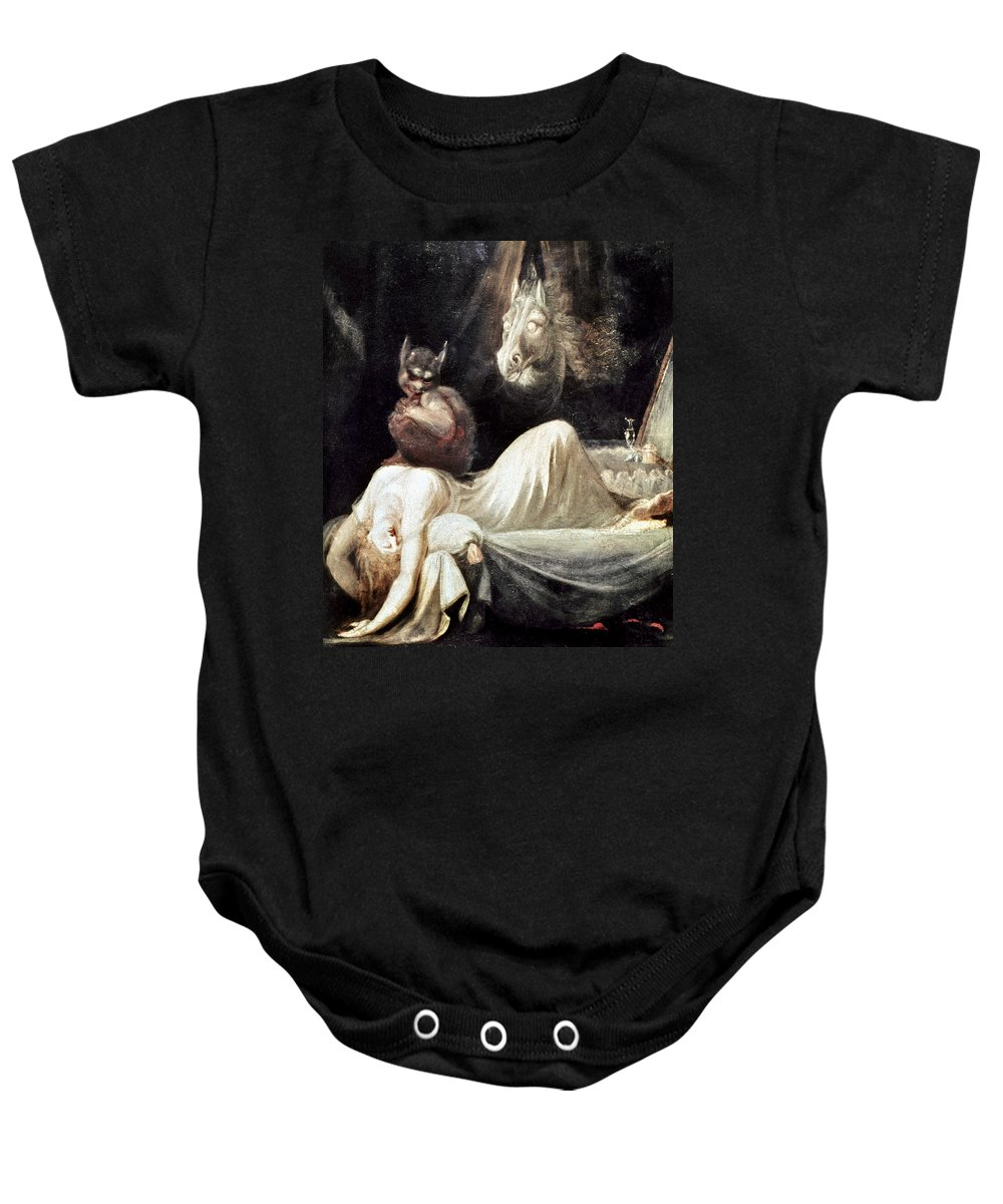 1781 Baby Onesie featuring the photograph Fuseli: Nightmare, 1781 by Granger