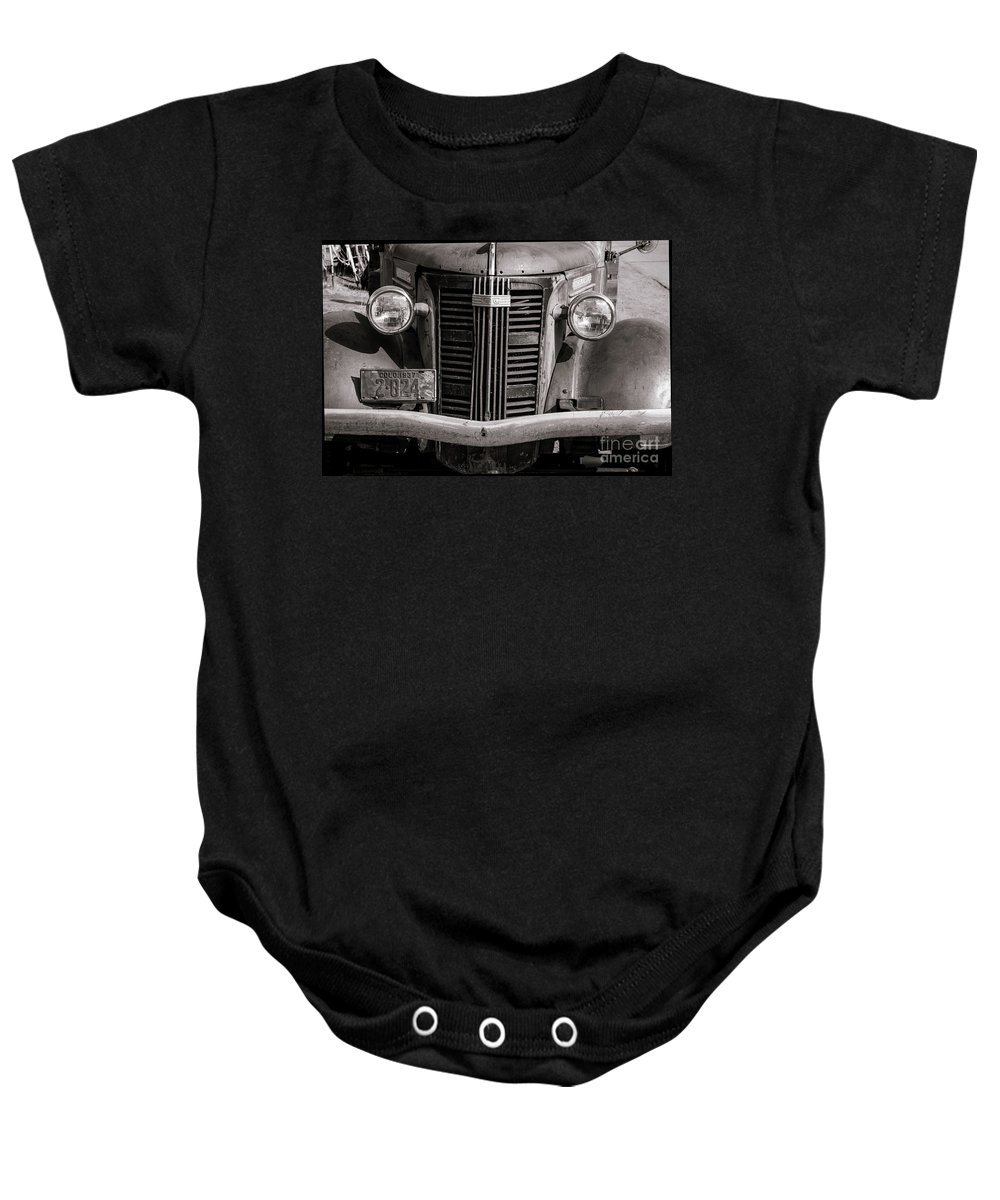 Gmc Baby Onesie featuring the photograph G M C by Steven Parker