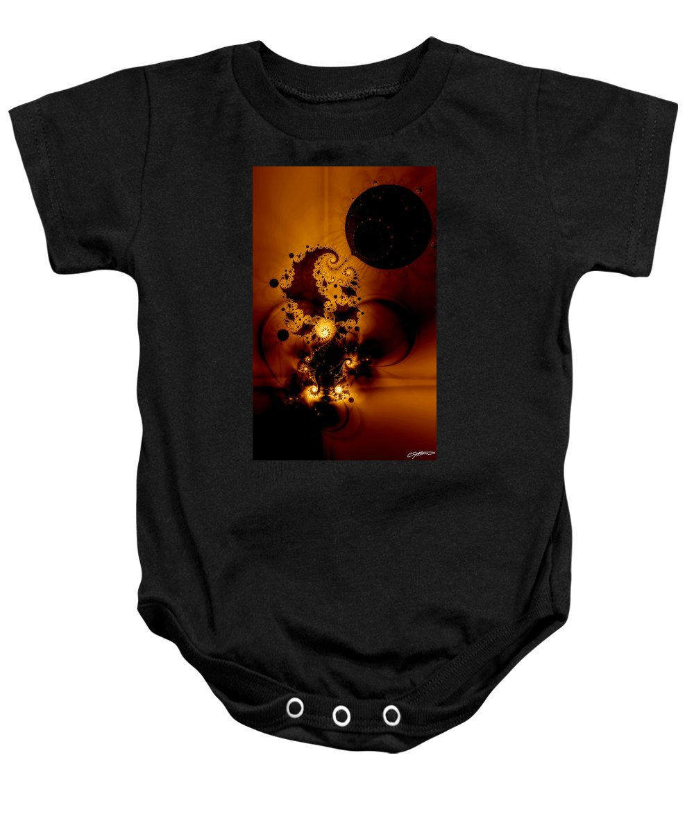 Fractal Baby Onesie featuring the digital art Galileo's Muse by Casey Kotas