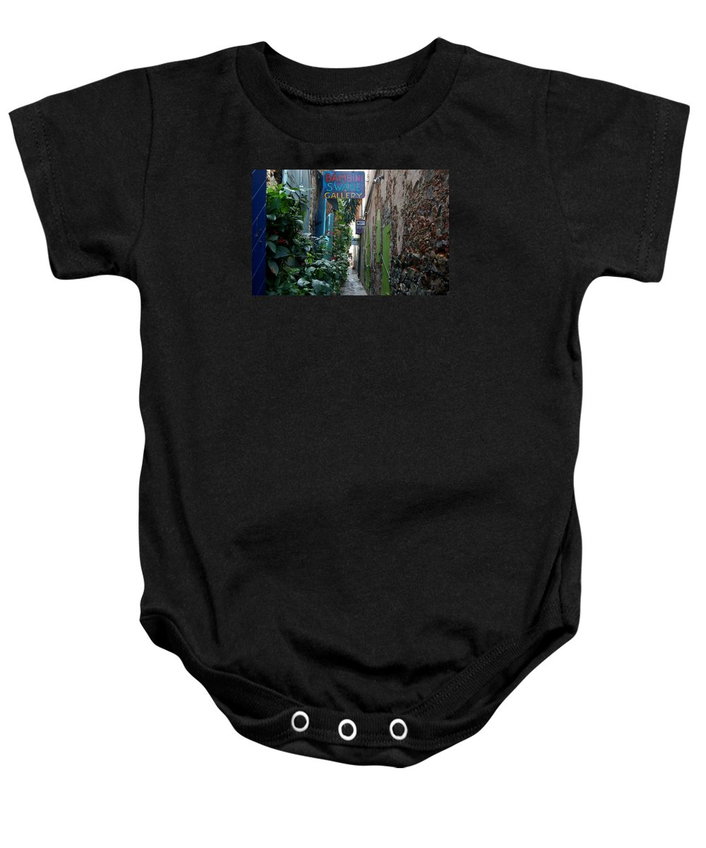 St. Thomas Baby Onesie featuring the photograph Gallery Alley by Christopher James