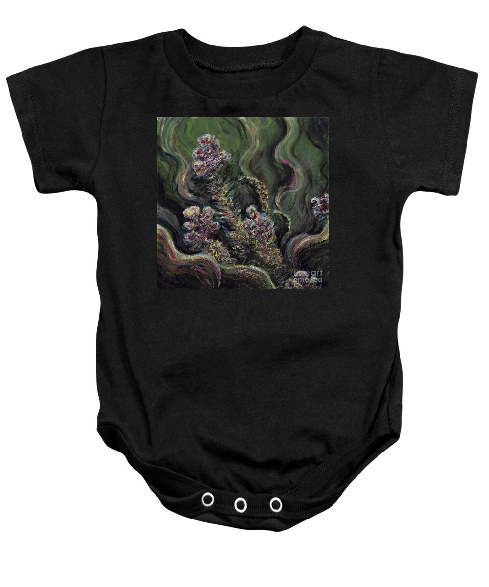 Flowers Baby Onesie featuring the painting Garden Delights by Nadine Rippelmeyer