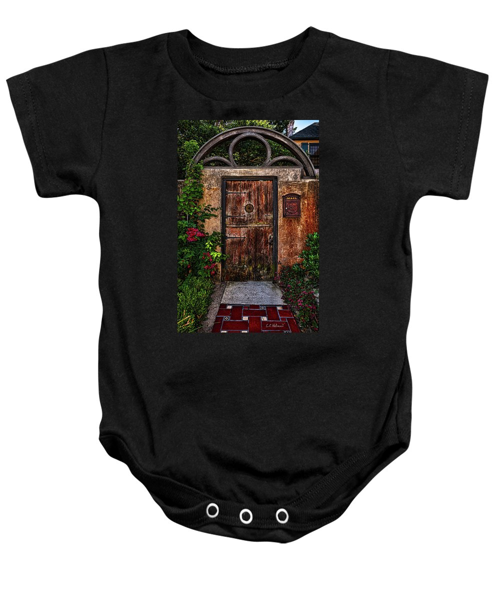 Gate Baby Onesie featuring the photograph Garden Gate by Christopher Holmes