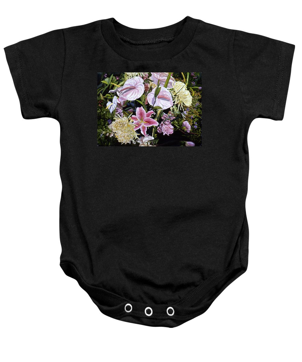 Watercolor Baby Onesie featuring the painting Garden Song by Teri Starkweather