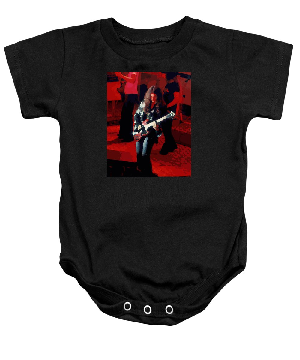 Gary Rossington Baby Onesie featuring the photograph G R Winterland 1 by Ben Upham