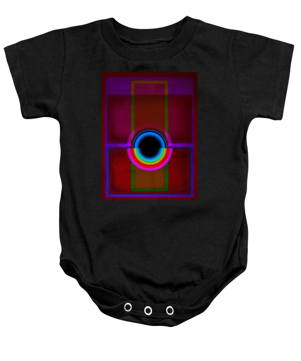 Portal Baby Onesie featuring the painting Gate by Charles Stuart