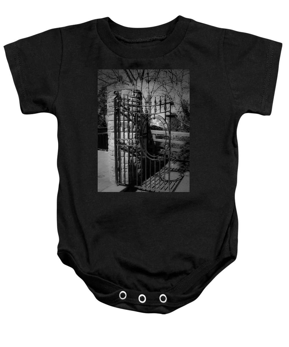 Irish Baby Onesie featuring the photograph Gate In Macroom Ireland by Teresa Mucha
