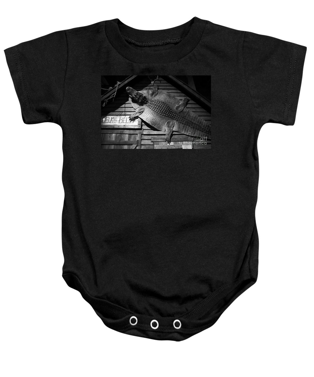 Alligator Baby Onesie featuring the photograph Gator Hide by David Lee Thompson
