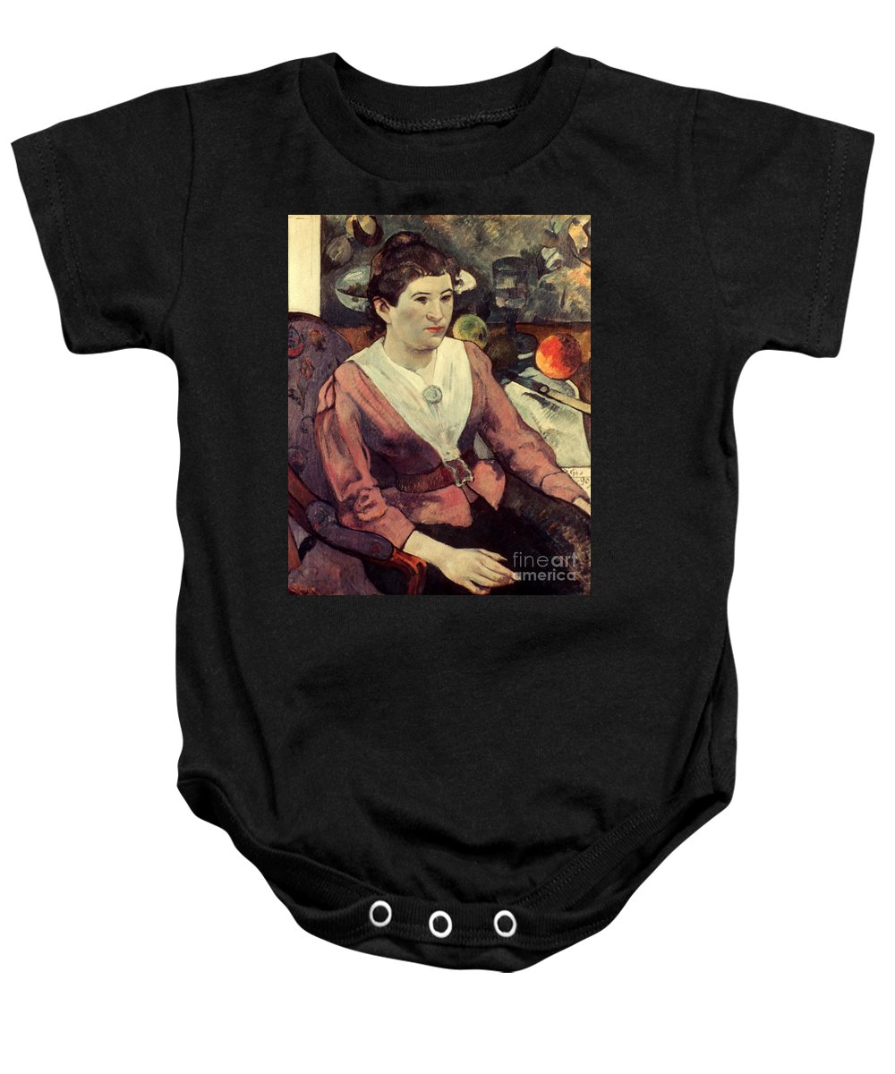 1890 Baby Onesie featuring the photograph Gaugin: Marie Derrien, 1890 by Granger