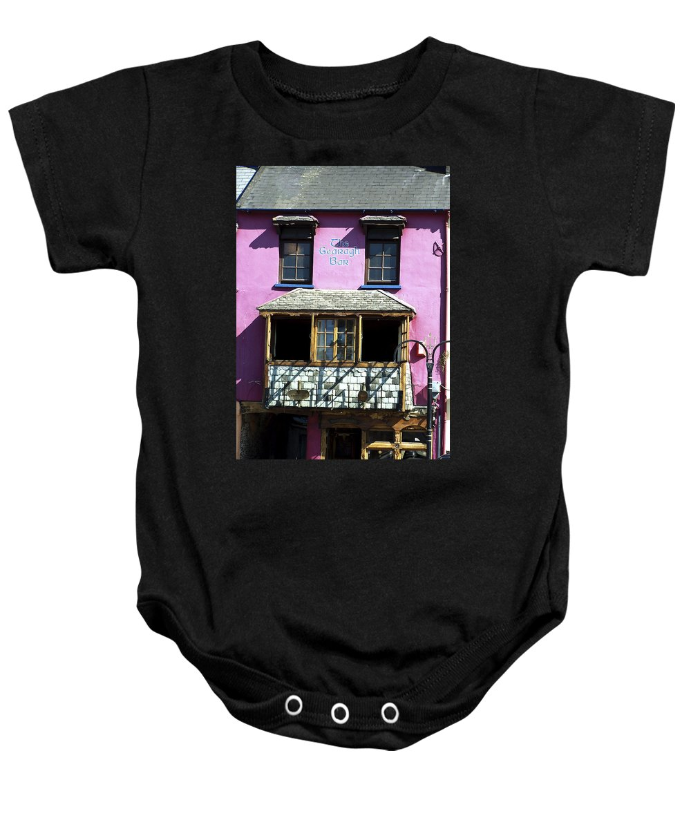 Irish Baby Onesie featuring the photograph Gearagh Pub In Macroom Ireland by Teresa Mucha