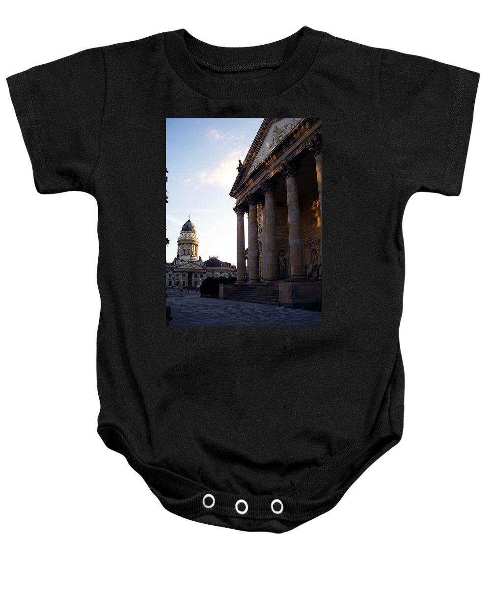 Gendarmenmarkt Baby Onesie featuring the photograph Gendarmenmarkt by Flavia Westerwelle