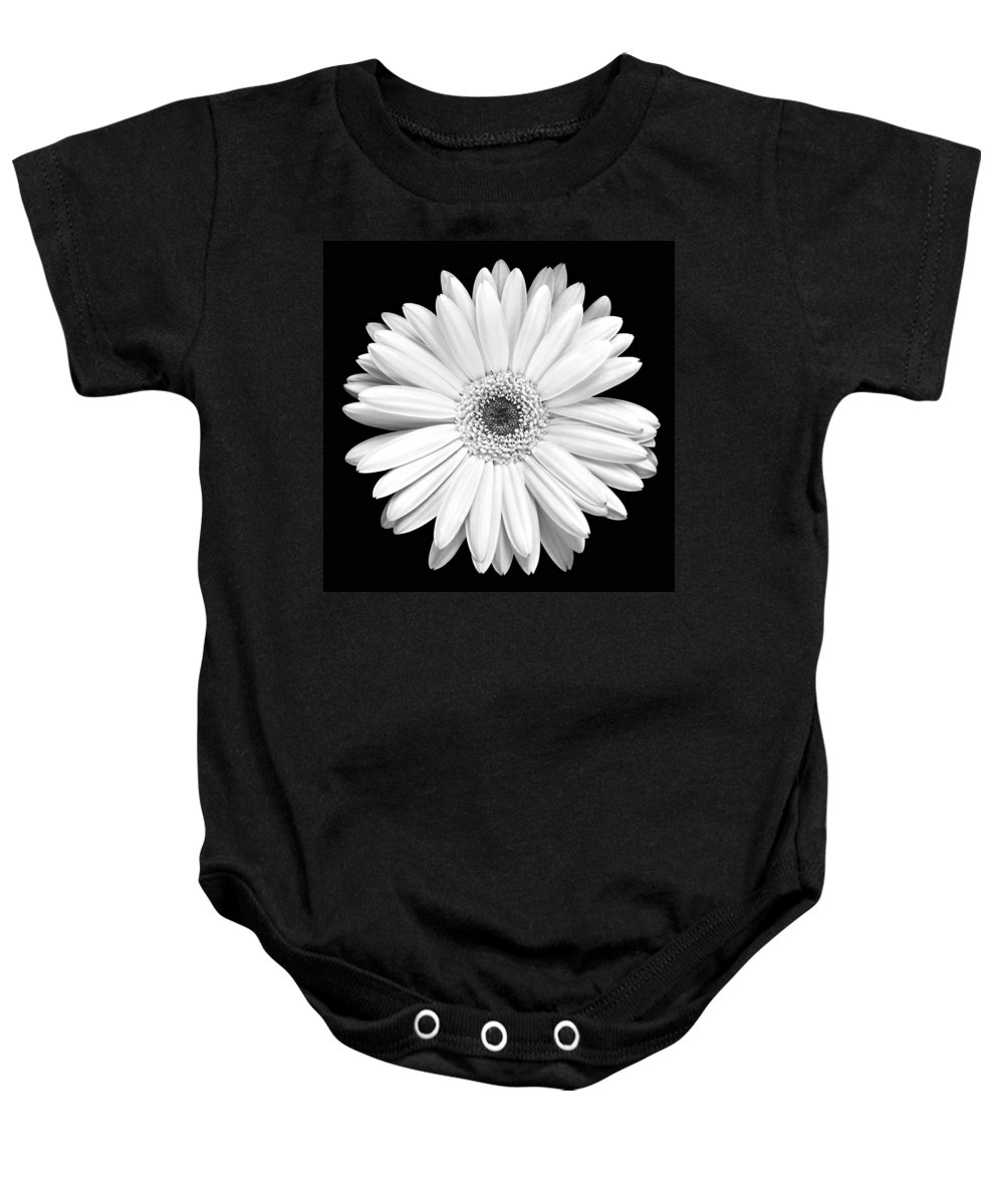 Gerber Baby Onesie featuring the photograph Single Gerbera Daisy by Marilyn Hunt