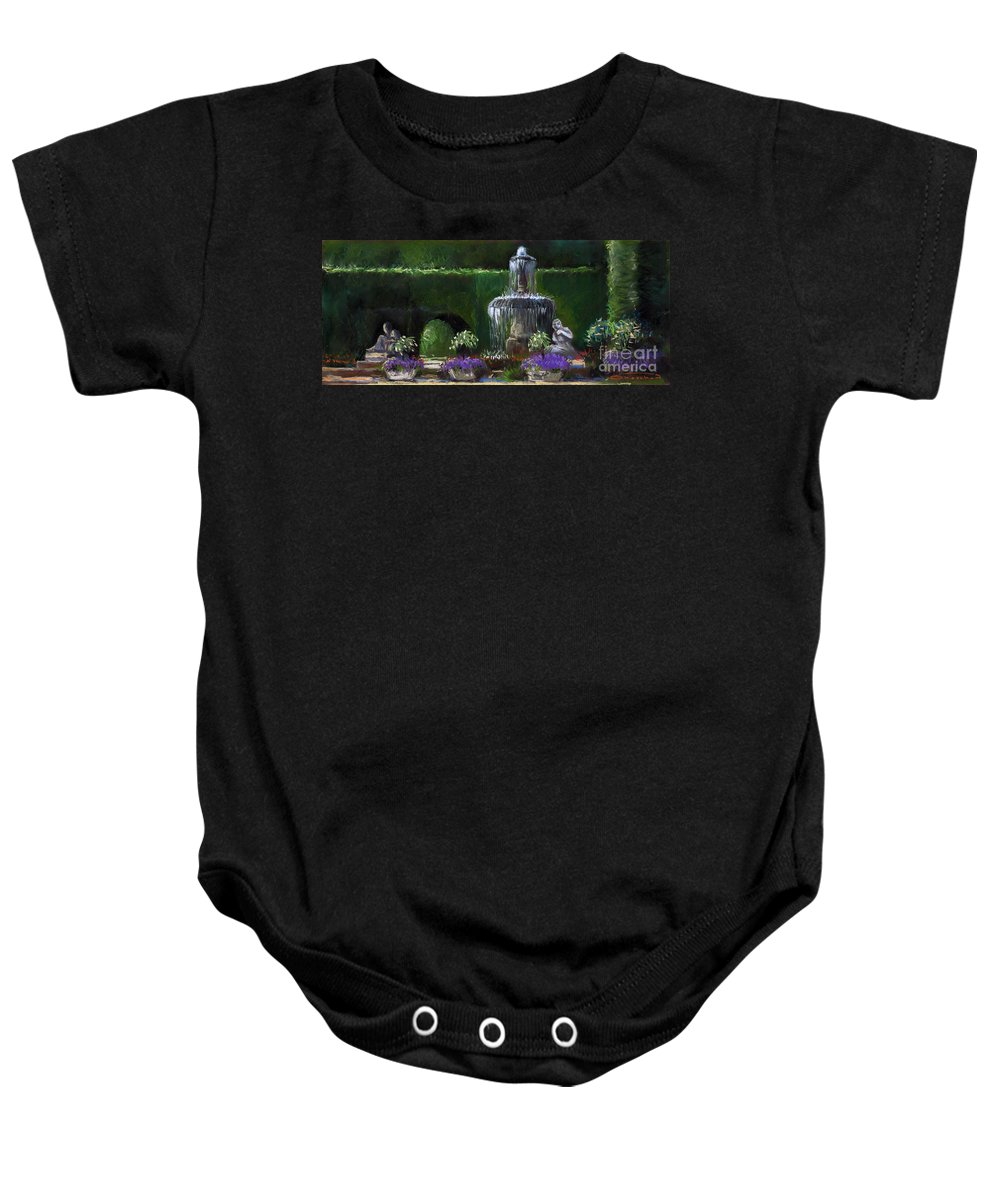 Pastel Baby Onesie featuring the painting Germany Baden-baden 15 by Yuriy Shevchuk