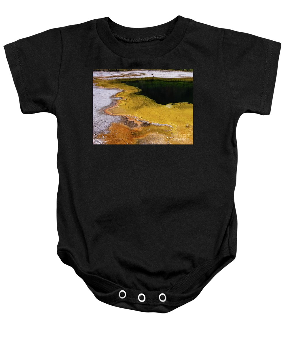 Wyoming Baby Onesie featuring the photograph Geyser Basin Springs 5 by Tracy Knauer