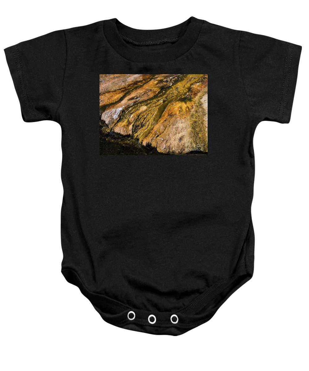 Wyoming Baby Onesie featuring the photograph Geyser Basin Springs by Tracy Knauer