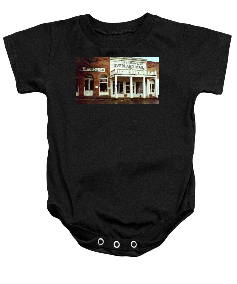 Wells Baby Onesie featuring the digital art Ghost Town by Gary Baird