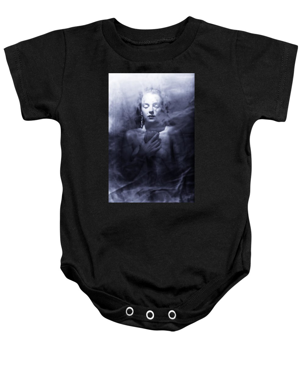 Woman Baby Onesie featuring the photograph Ghost Woman by Scott Sawyer