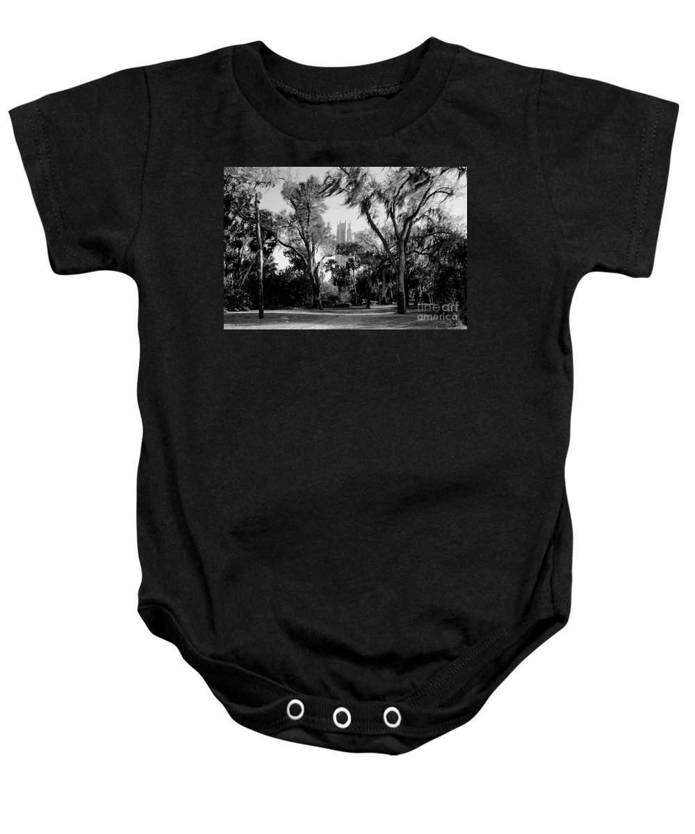 Bok Tower Baby Onesie featuring the photograph Ghostly Bok Tower by David Lee Thompson