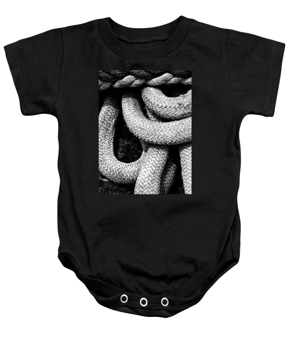 Give Them Some Rope Baby Onesie featuring the photograph Give Them Some Rope 3 by Skip Hunt