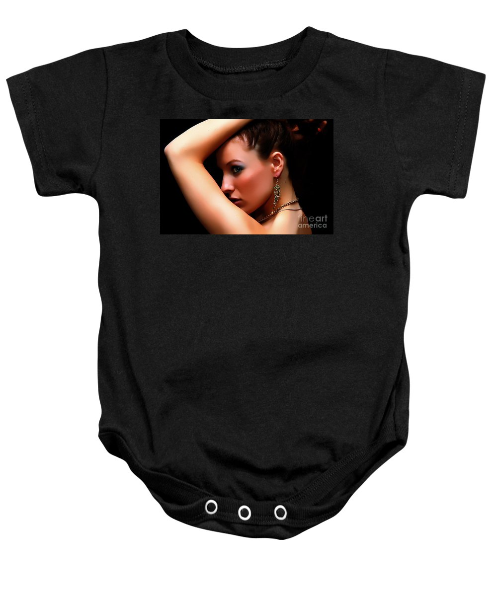 Clay Baby Onesie featuring the photograph Glamour Girl by Clayton Bruster