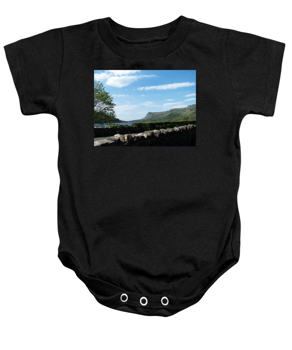 Irish Baby Onesie featuring the photograph Glencar Lake With View Of Benbulben Ireland by Teresa Mucha