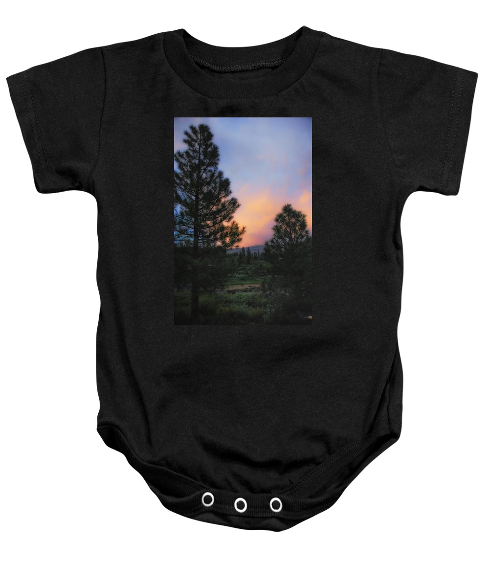 Landscape Baby Onesie featuring the photograph Go Softly Into The Night by Donna Blackhall
