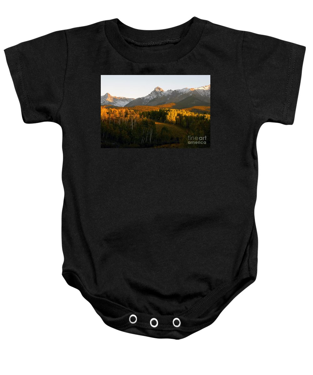 Landscape Baby Onesie featuring the photograph God's Country by David Lee Thompson