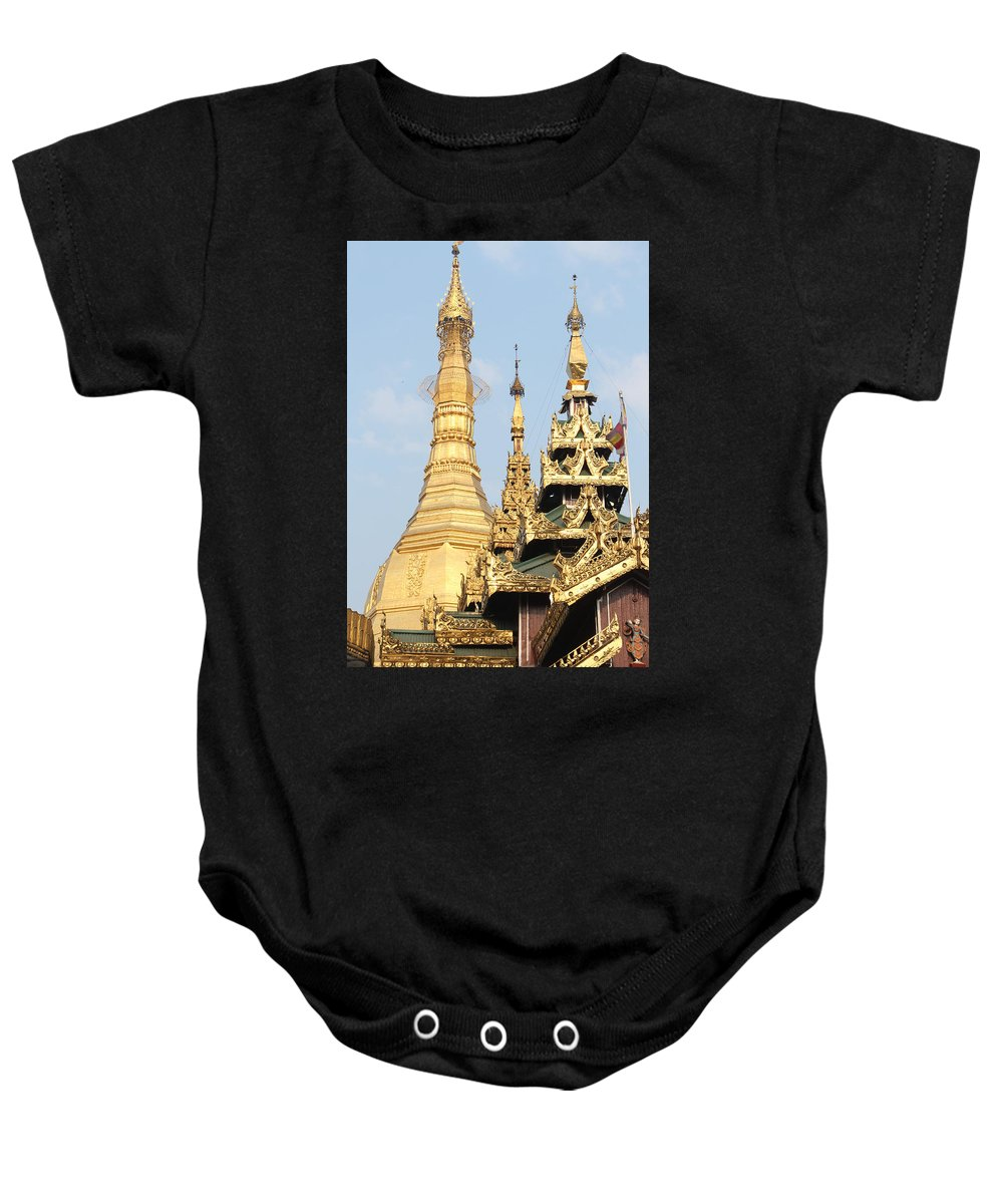 Golden Dome By Valeria Trot Baby Onesie featuring the photograph Golden Dome by Valeria New