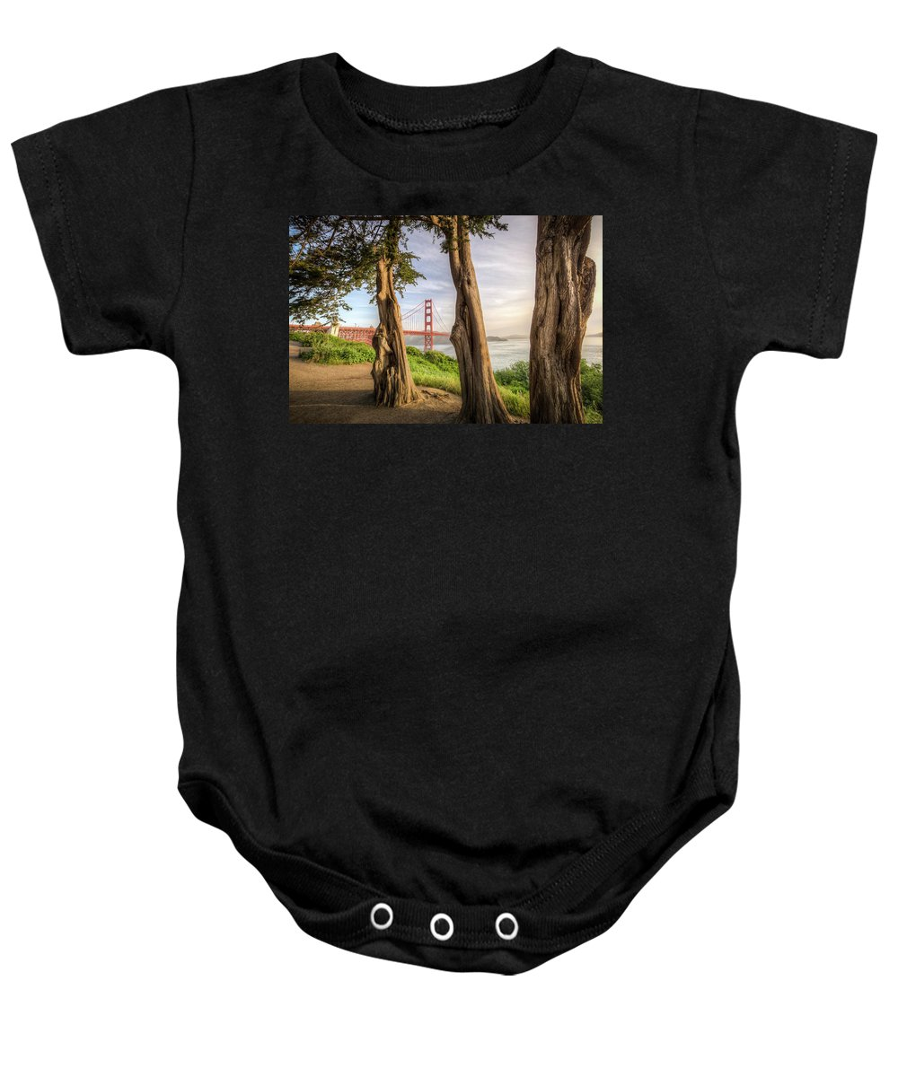 Golden Gate Baby Onesie featuring the photograph The Trees Of The Golden Gate by Ronald Kotinsky