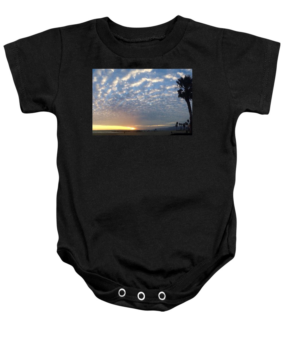 Venice Baby Onesie featuring the photograph Golden Ratio Sunset by Carmen Fanali
