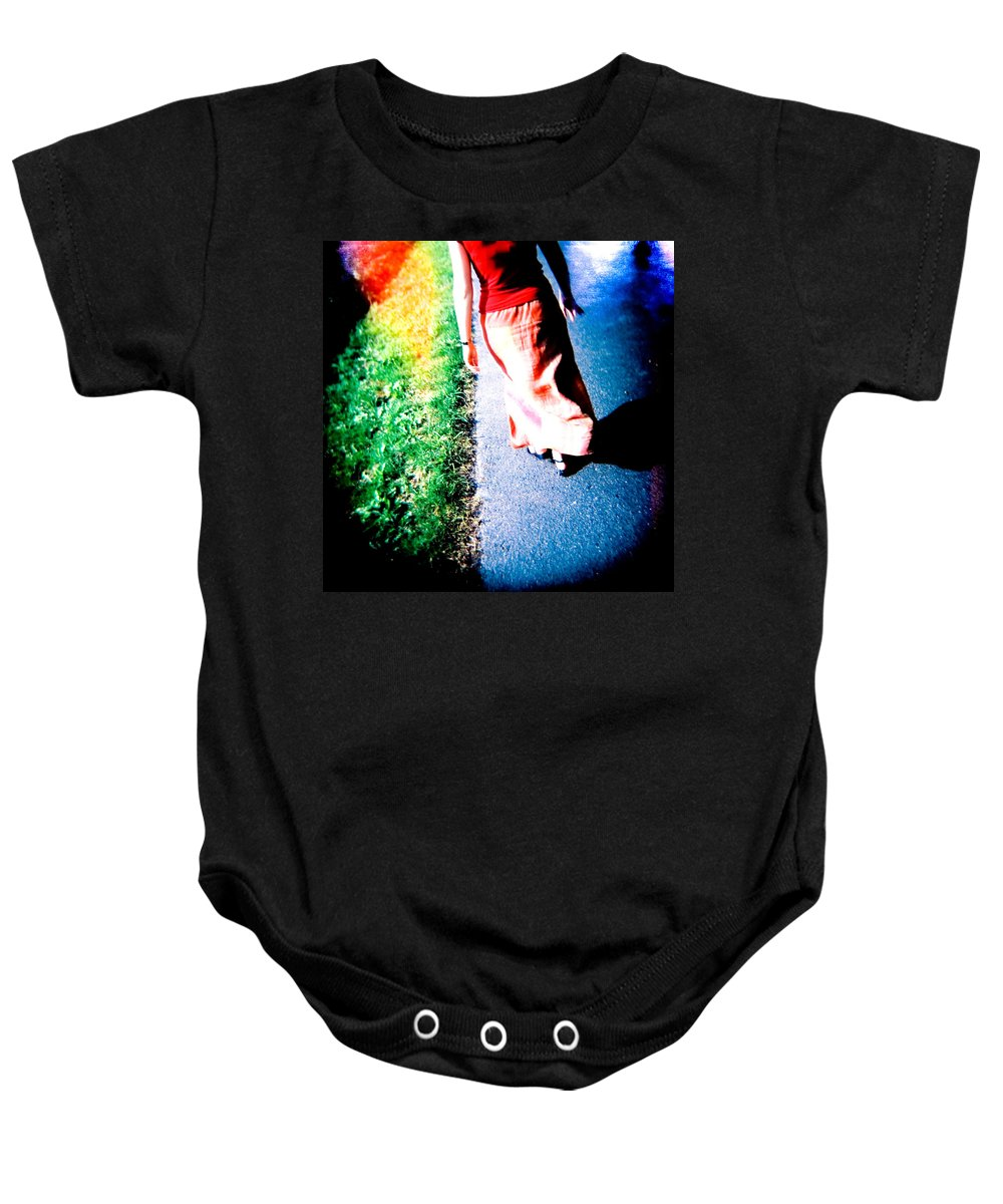 Color Photograph Holga Baby Onesie featuring the photograph Gone by Olivier De Rycke