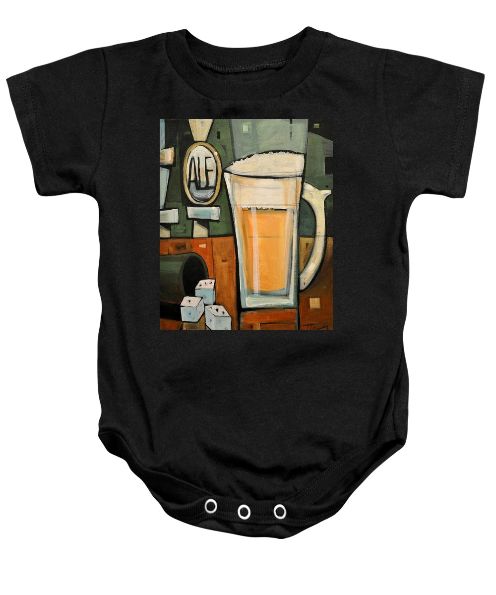 Beer Baby Onesie featuring the painting Good For What Ales You by Tim Nyberg