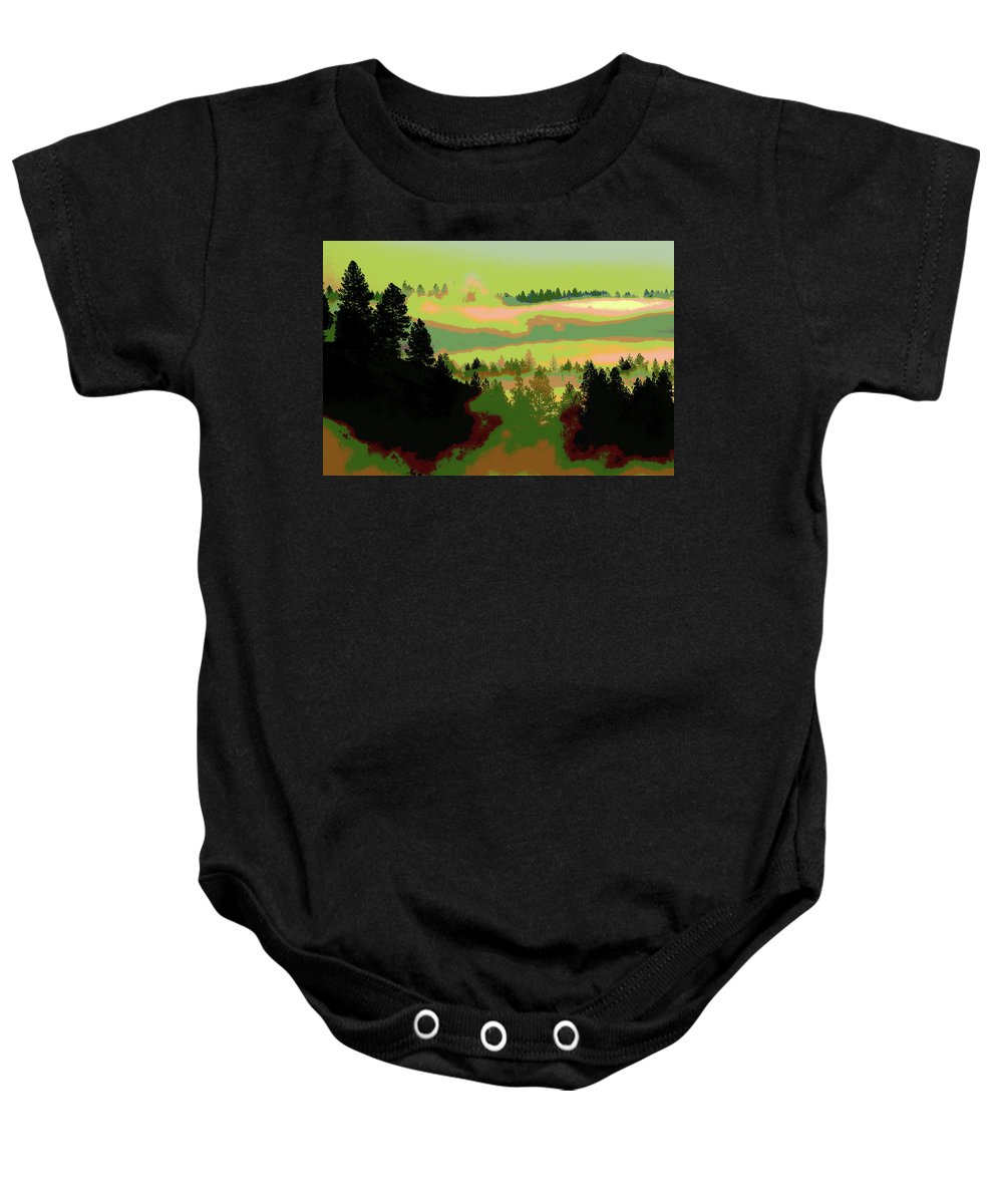 Photo Art Baby Onesie featuring the photograph Good Morning In Spokane by Ben Upham III