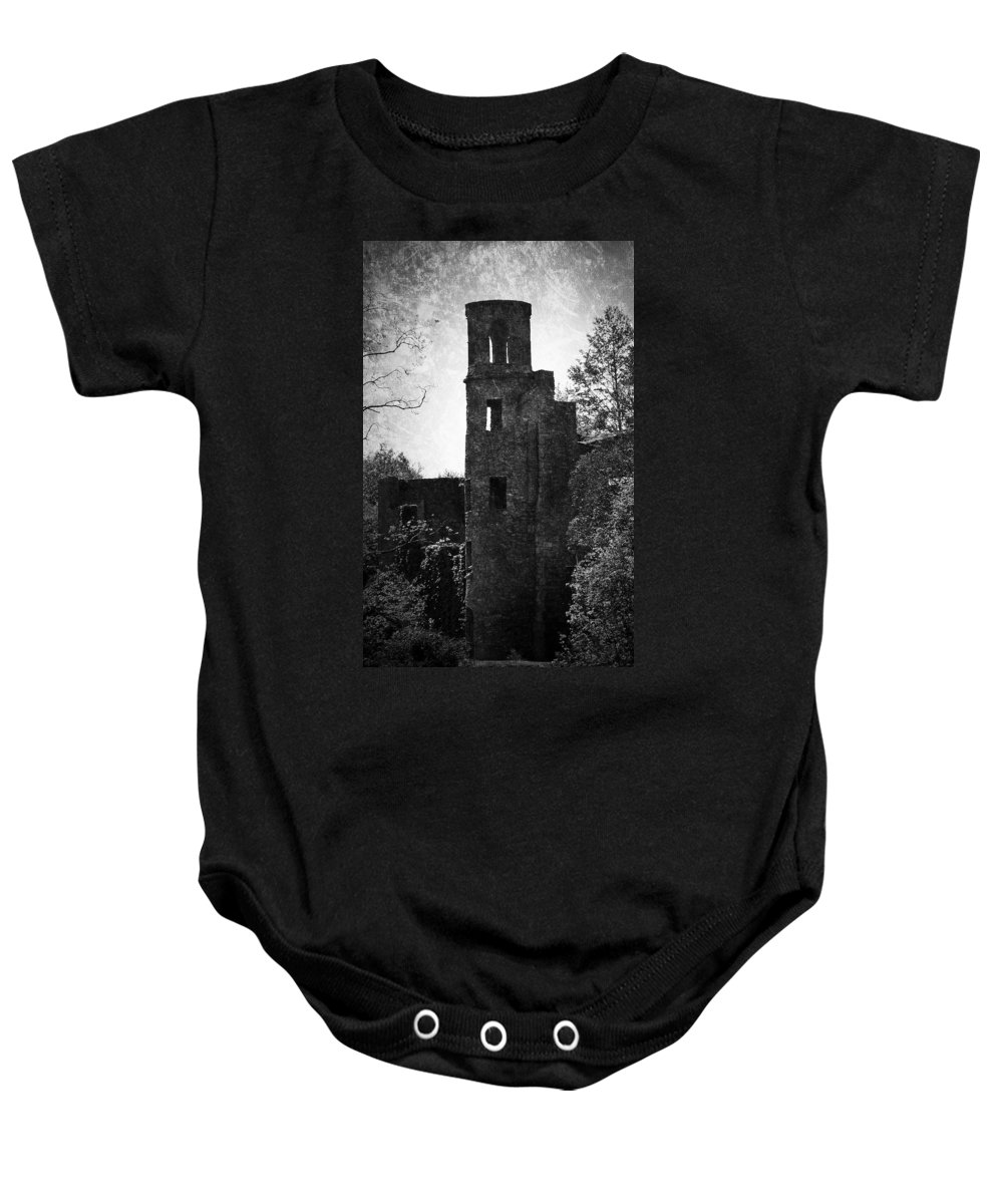 Irish Baby Onesie featuring the photograph Gothic Tower At Blarney Castle Ireland by Teresa Mucha