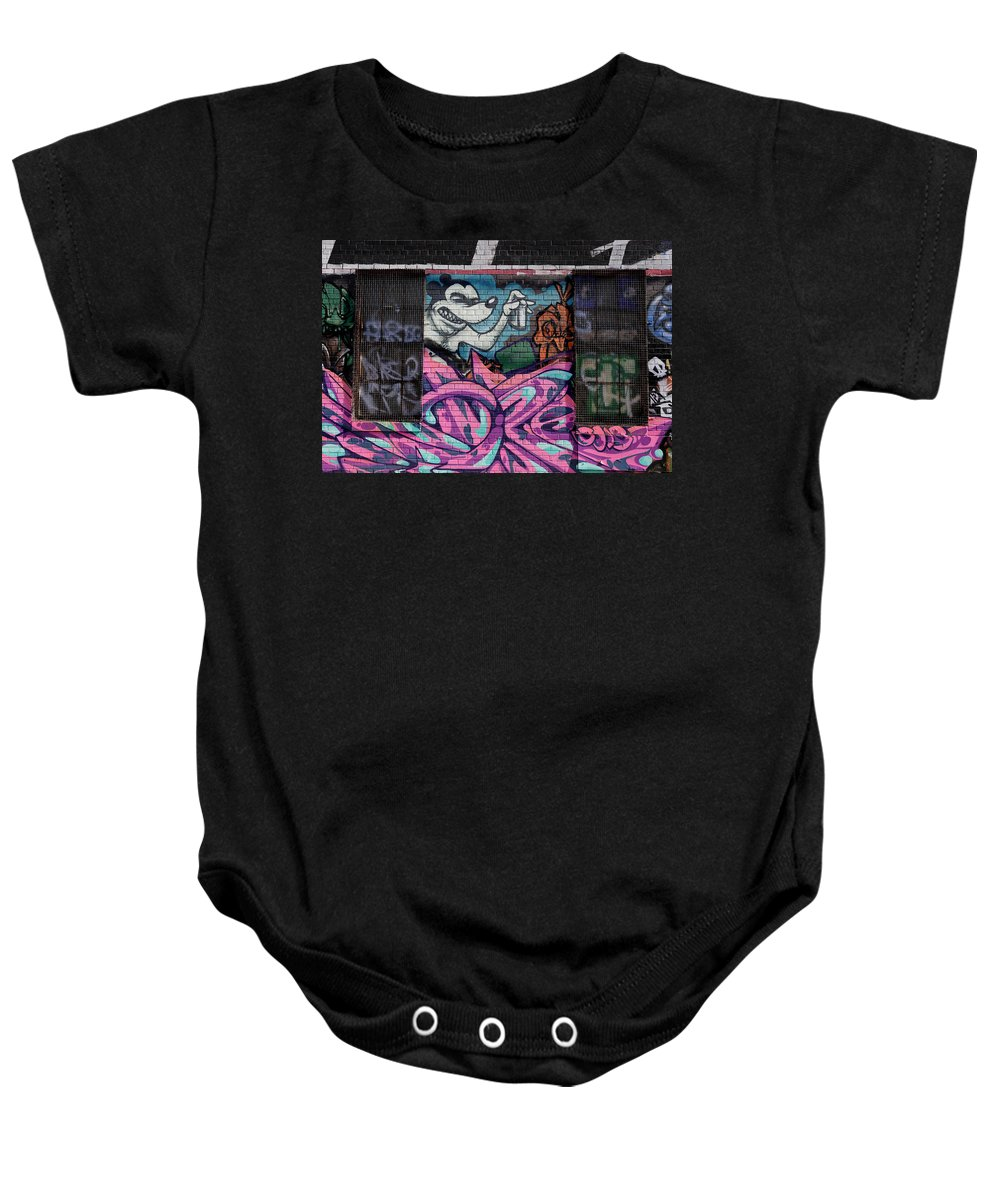Graffiti Baby Onesie featuring the photograph Graffiti 14 by Andrew Fare