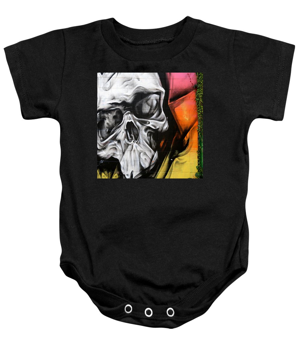 Graffiti Baby Onesie featuring the photograph Graffiti 21 by Andrew Fare