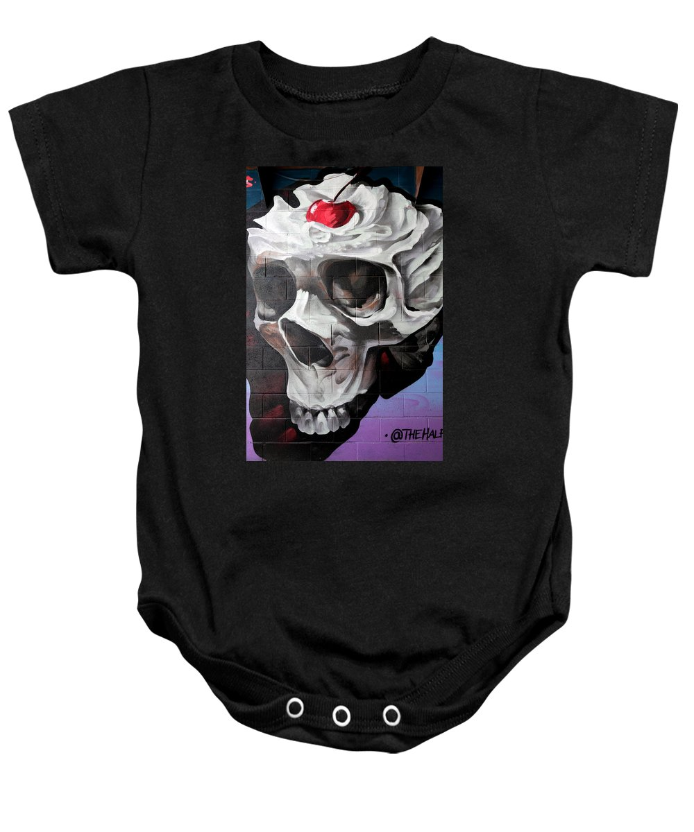 Graffiti Baby Onesie featuring the photograph Graffiti 23 by Andrew Fare