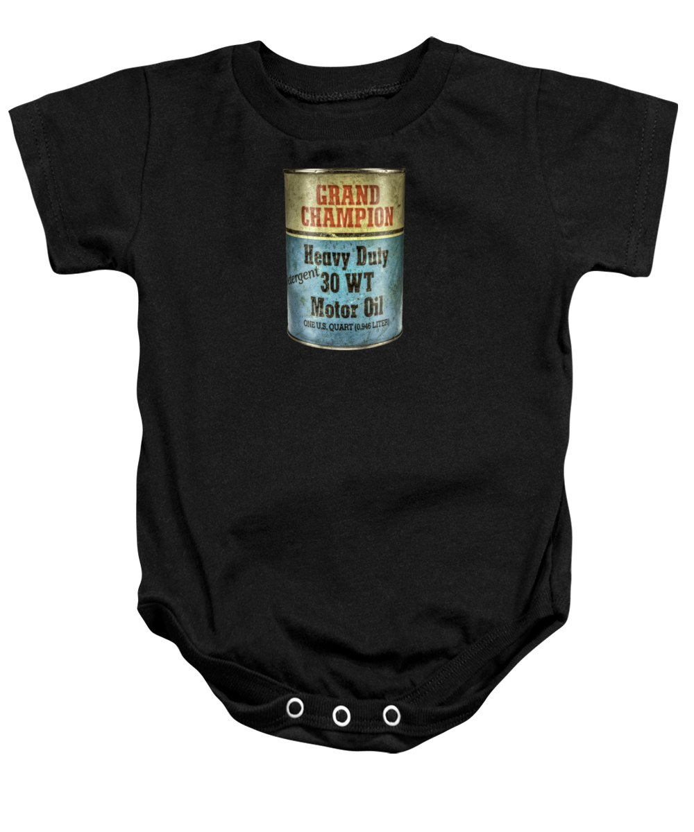 bd83c4d58930 Automobile Art Baby Onesie featuring the photograph Grand Champion Motor  Oil by YoPedro