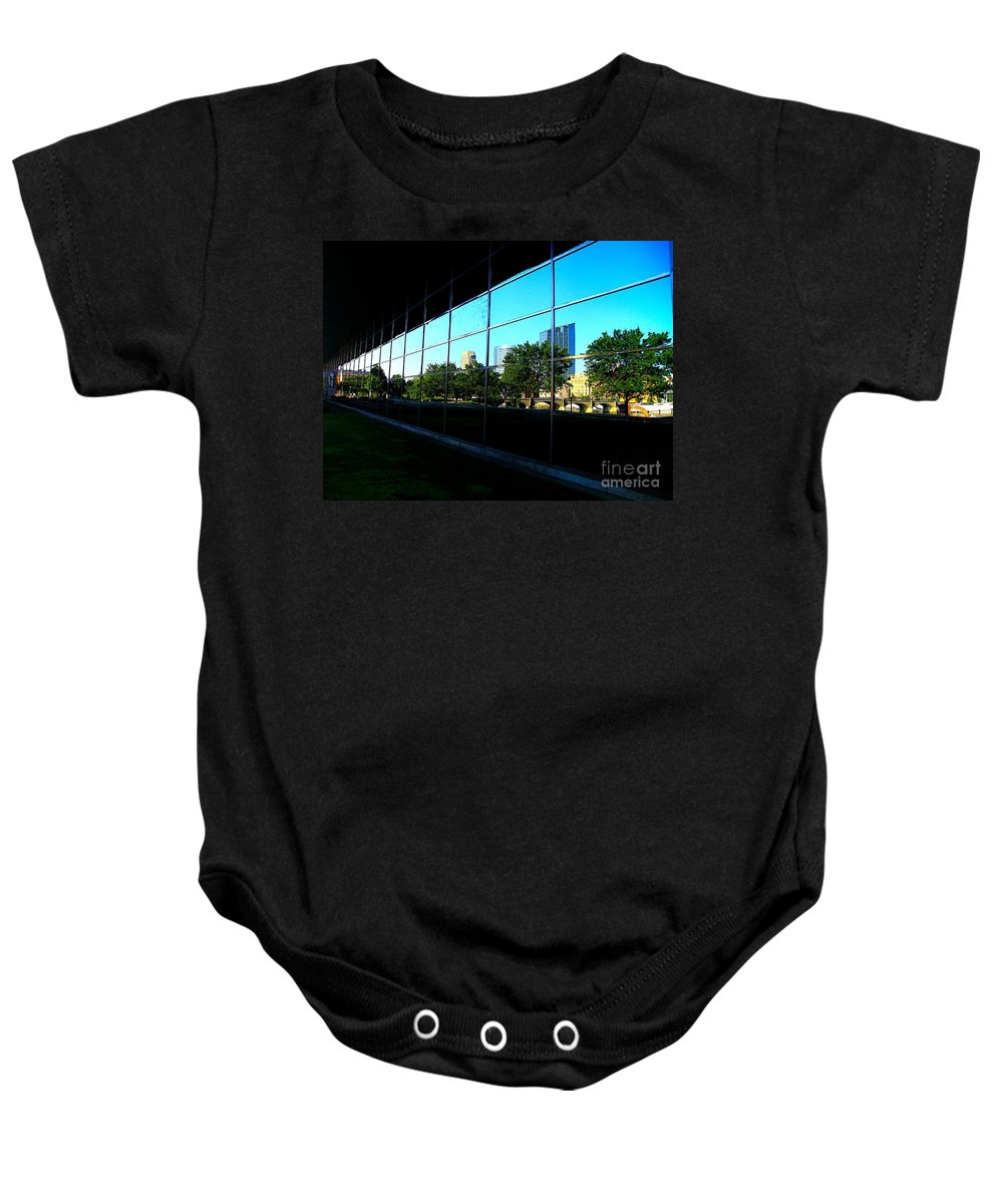 City Baby Onesie featuring the photograph Grand Rapids Mi On Glass-12 by Robert Pearson