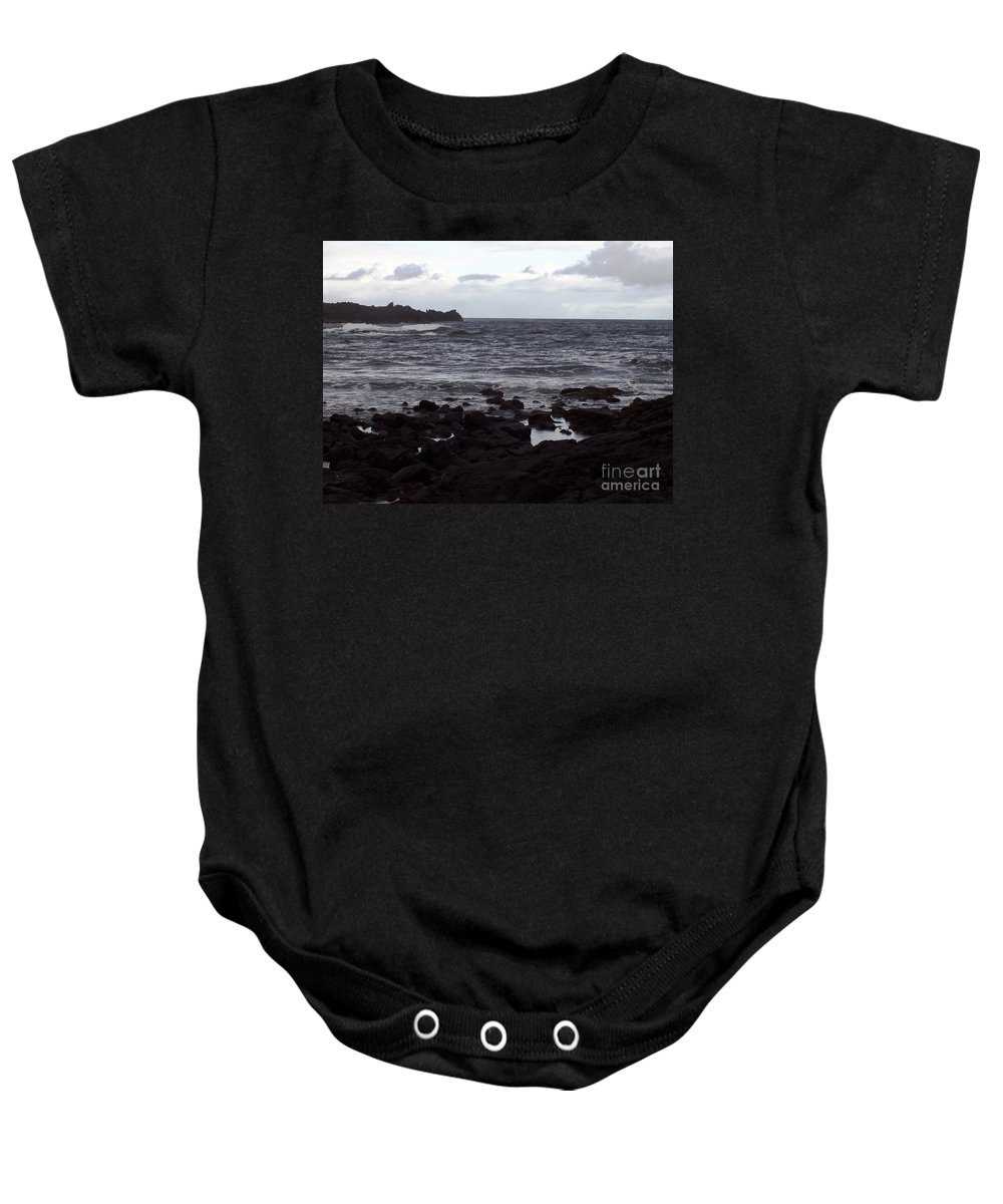 Water Baby Onesie featuring the photograph Grayscale by Deborah Crew-Johnson