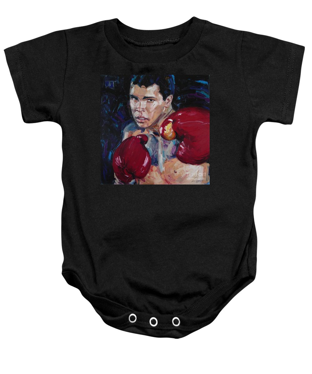 Figurative Baby Onesie featuring the painting Great Ali by Sergey Ignatenko