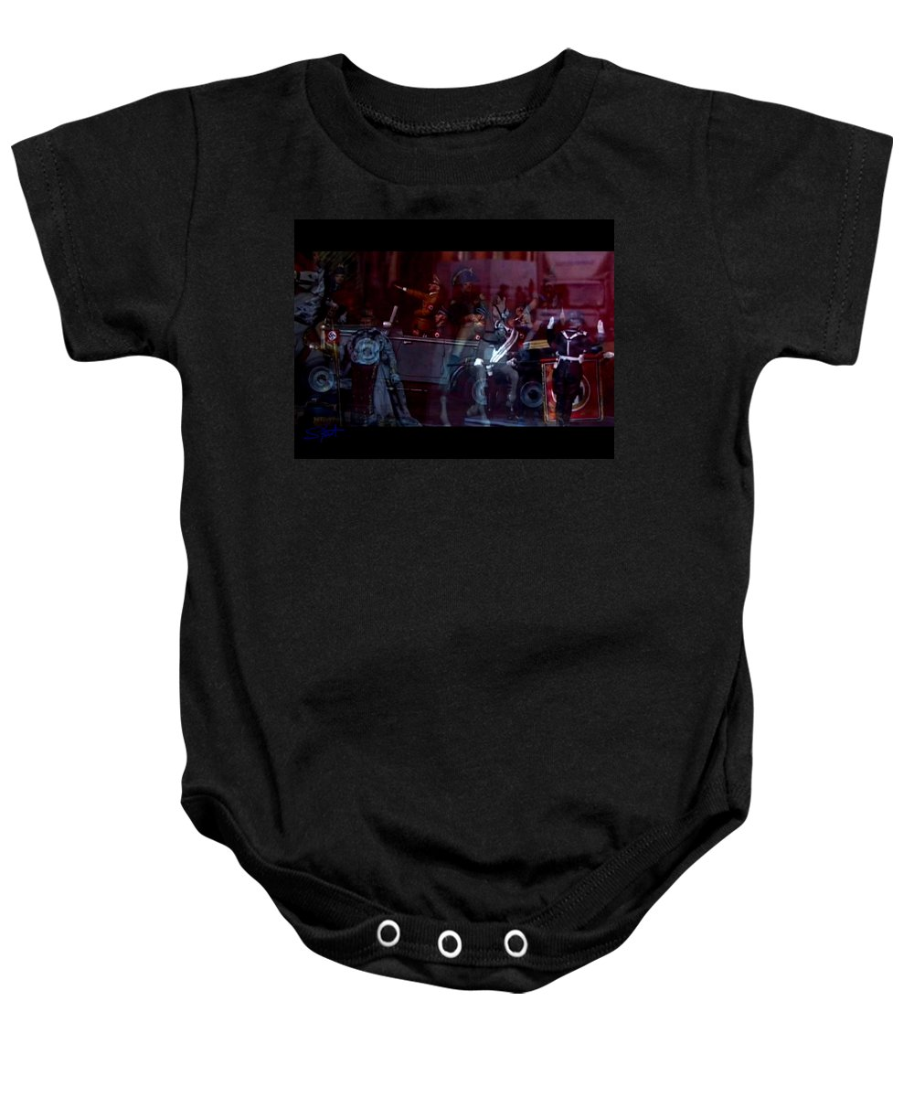 Dream Baby Onesie featuring the photograph Great Dictators As Tin Men by Charles Stuart