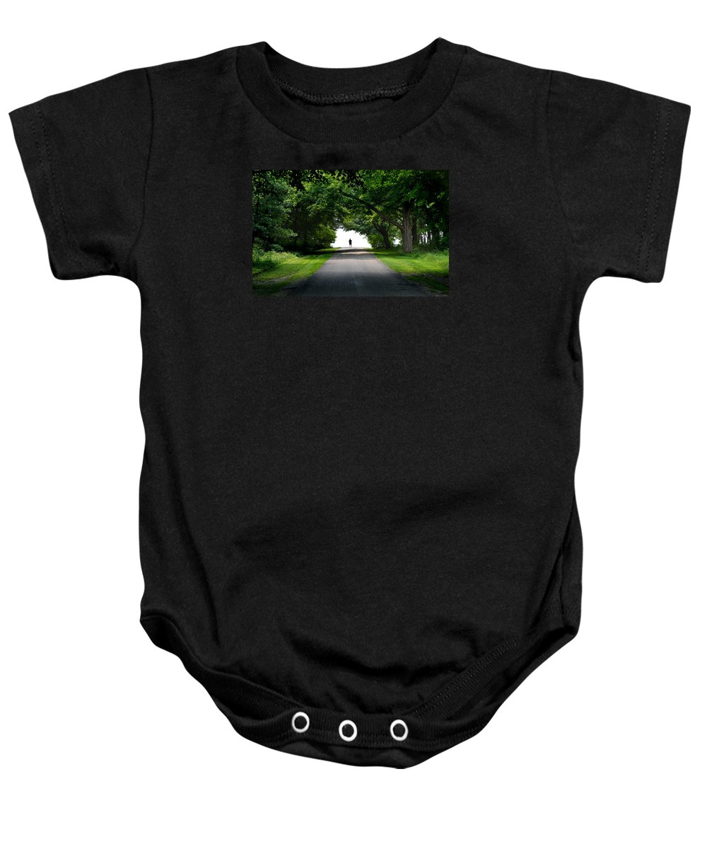 Green Arch Baby Onesie featuring the photograph Green Arch Horizon by Martin Massari