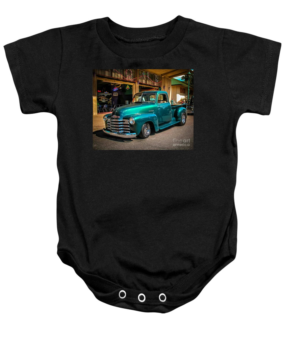 Truck Baby Onesie featuring the photograph Green Dreams by Perry Webster