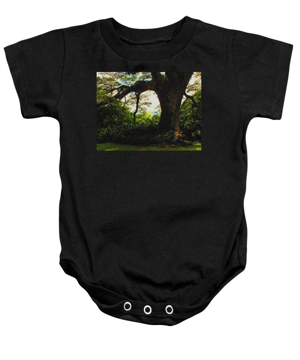 Tropical Baby Onesie featuring the photograph Green Giant by Ian MacDonald