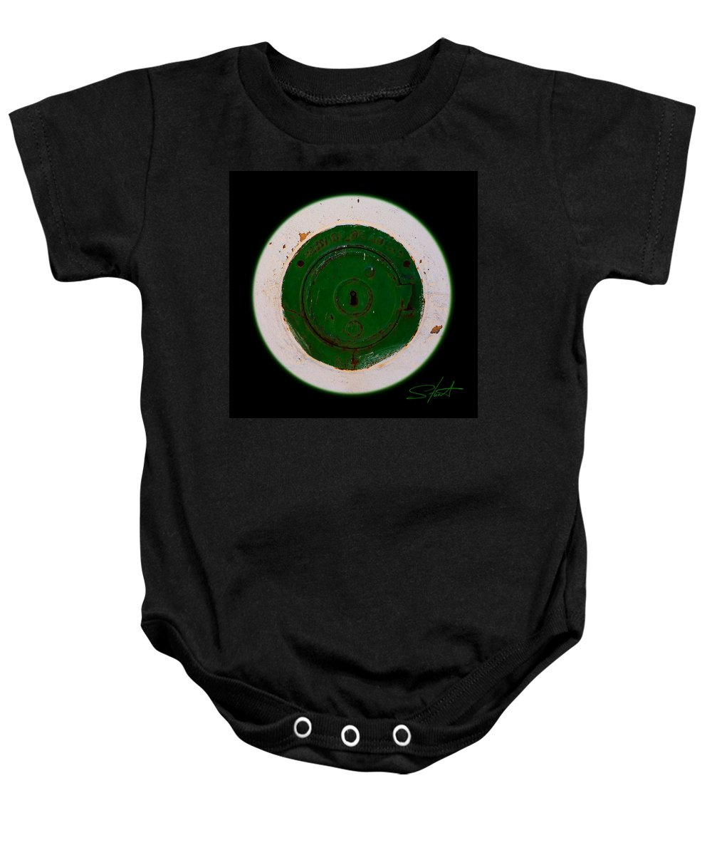 Green Baby Onesie featuring the photograph Green Image by Charles Stuart
