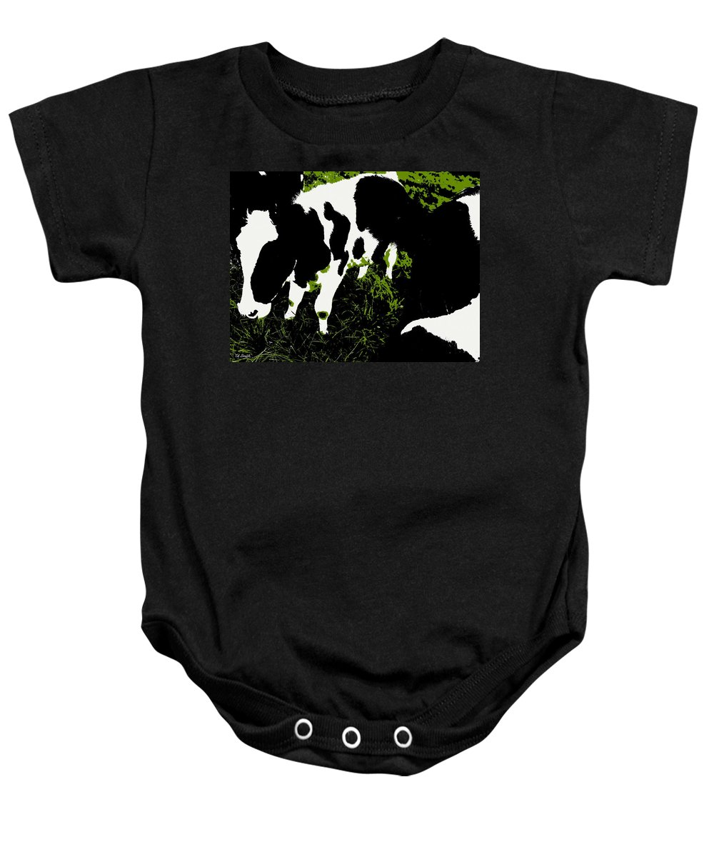 Still Life Baby Onesie featuring the photograph Greener Pastures by Ed Smith