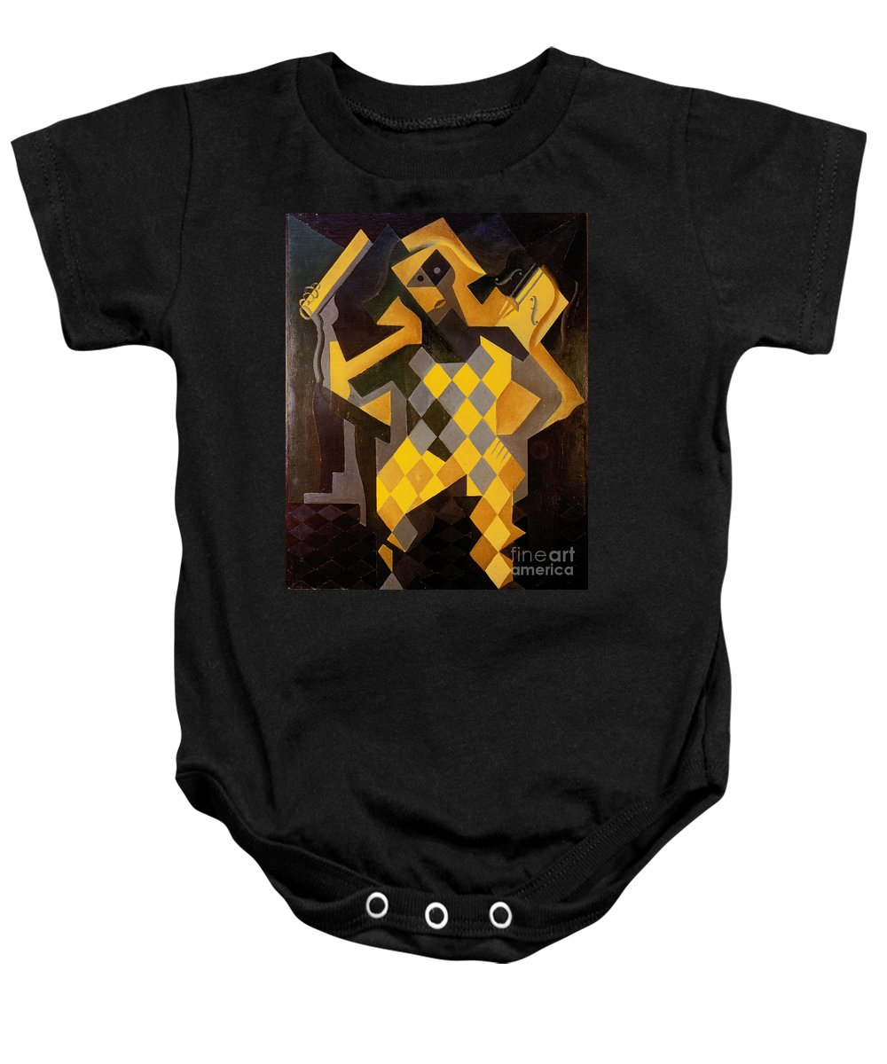 1919 Baby Onesie featuring the photograph Gris: Harlequin by Granger