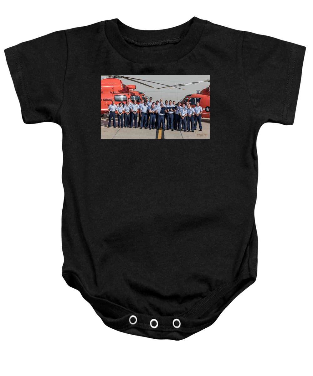 Us Coast Guard Air Station New Orleans All Hands Unit Photo Shoot Baby Onesie featuring the photograph Group 2 Fun Shot by Gregory Daley MPSA